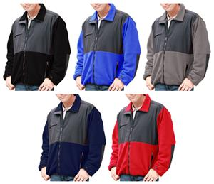 Blue Generation Men&#39;s Polar Nylon/Fleece Jackets