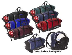 Diadora Large Team Bag w/Detachable Backpacks