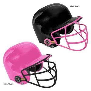 ALL-STAR Pink Batting Helmet w/Face Guard-NOCSAE