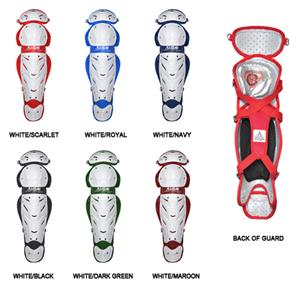 ALL-STAR White System 7 Softball Leg Guards