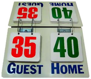 Champion Deluxe Tabletop Flip Scorer Scoreboards