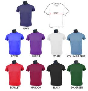 Fabnit Adult Moisture Management Crewneck T-Shirts