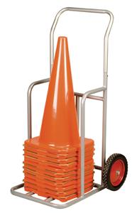 "Champion Sports 1"" Steel Cone Cart On Wheels"