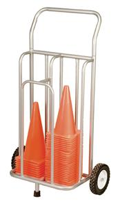 Champion Sports Steel Cone Storage Cart On Wheels