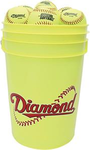 Diamond Bucket Combo With Eighteen Softballs