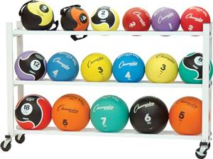 Champion Sports Deluxe Medicine Ball Cart