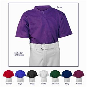 ALL-STAR Youth 2 Button Mesh Baseball Jerseys
