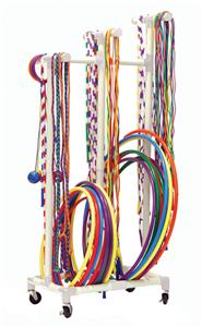 Champion Sports Plastic Tubing Jump Rope/Hoop Cart