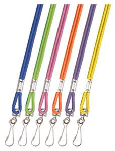 Champion Neon Nylon Whistle Lanyards (12 Per Card)