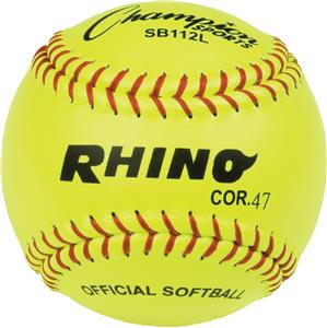 "Champion NFHS Leather 12"" Softballs (DOZEN)"