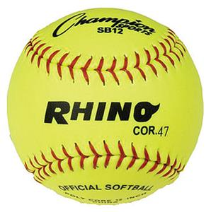 "Champion Sports NFHS Syntex 12"" Softballs-DOZEN"