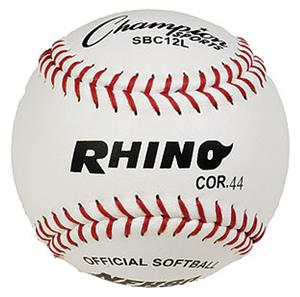 "Champion NFHS White Leather 12"" Softballs (DOZENS)"