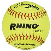 "Champion Optic Yellow Syntex 11"" Softballs (DOZEN)"