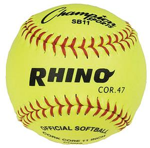 Champion Optic Yellow Syntex 11&quot; Softballs (DOZEN)