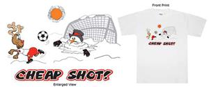 Cheap Shot soccer tshirt gifts (Short Sleeved)