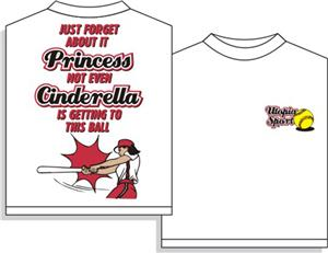 Cinderella/Princess Softball tshirt gifts