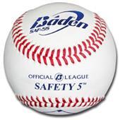 Baden Safety 5 Raised Seam Baseballs (DZ) SAF-5S