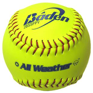 """Baden All-Weather Fast Pitch 11"""" Softballs 2BS11SY"""