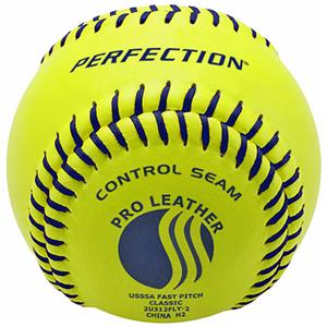 "Baden USSSA Fast Pitch Leather 11"" Softballs (DZ)"