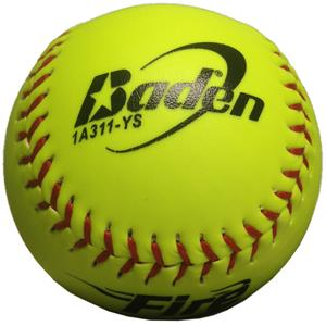 "Baden ASA Slow Pitch Yellow 11"" FIRE Softballs CO"