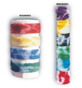 Red Lion Tie Dyed Wristbands &amp; Headbands
