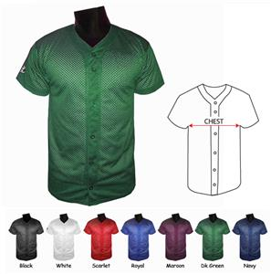 Husky Youth Full Button Mesh Baseball Jerseys