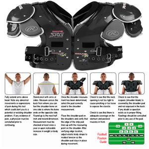 Rawlings SRG AIMS A6 Football Shoulder Pads