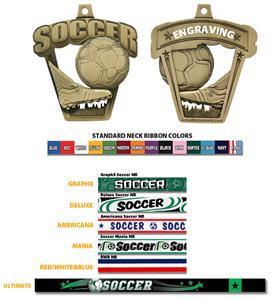 "Hasty Awards 2.5"" ProSport Soccer Medal M-712S"