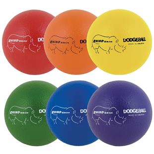 "Champion Sports Rhino Skin 6"" Dodge Ball Set of 6"