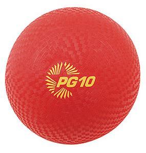 """Champion Playground & Kickball Nylon 10"""" Red Balls"""