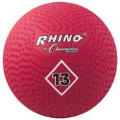 "Champion Playground & Kickball Nylon 13"" Red Balls"