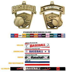 "Hasty Awards 2.5"" ProSport Baseball Medals"