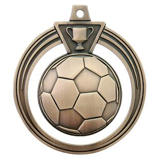 """Hasty Awards 2.5"""" Eclipse Soccer Medals M-707S"""