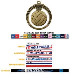 "Hasty Awards 2.5"" Eclipse Volleyball Medal"