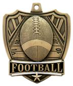 "Hasty Awards 2.5"" Shield Football Medals"