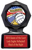 "Hasty Awards 5"" / 6"" Volleyball Black Ice Trophies"