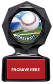 "Hasty Awards 5"" or 6"" Baseball Black Ice Trophy"
