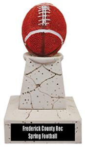 "Hasty Awards 5"" Football Stone Tower Trophy"