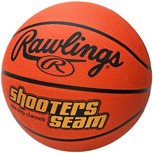 "Rawlings Shooters Seam 27.5"" Rubber Basketballs"