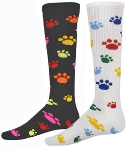 "Red Lion ""Wild Animal"" Paw Print Athletic Socks"