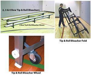 Standard Tip & Roll 2,3,4 Row Aluminum Bleachers