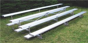 4 Row Aluminum or Steel Outdoor Bleachers