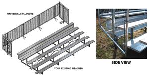 Universal Enclosure For 5 Row Bleacher 15&#39; &amp; 21&#39;