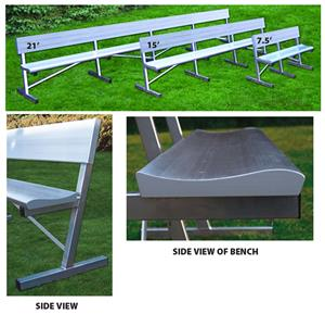 Pro Players Aluminum Bench With Backrests 3 Sizes