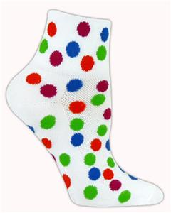 Red Lion Polka Dot 1/4 Crew Athletic Socks