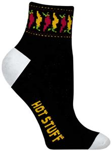Red Lion Mens Chili Pepper 1/4 Crew Athletic Socks