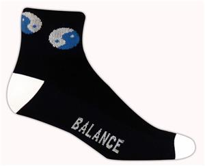 Red Lion Mens Yin Yang 1/4 Crew Athletic Socks