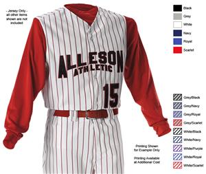 Alleson PROWV Adult Full Button Baseball Vests C/O