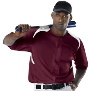 Alleson 527 Full Button 2-Color Baseball Jerseys