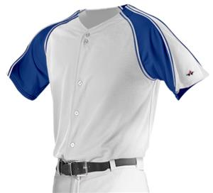 Alleson PROMMJ Full Button Mesh Baseball Jersey